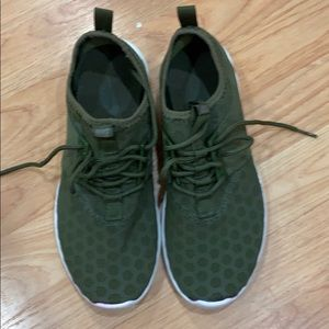 Great condition army green nikes
